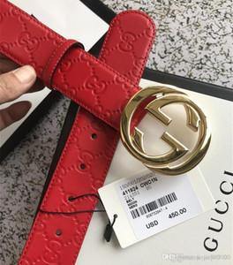 2019 Designers Cinture uomo per donne di trasporto di lusso della cinghia cinghie di cuoio delle donne oro fibbia grande con la scatola