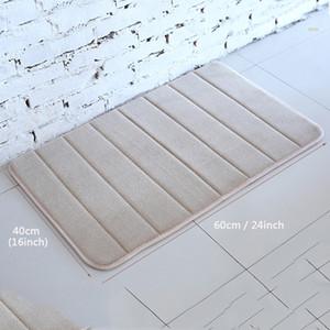 40x60cm Baño Alfombra antideslizante Dormitorio Alfombras antideslizantes Coral Lana Memoria Espuma Alfombra Ducha Alfombra Baño Cocina Piso Pad 13 colores DH1120