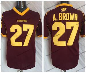 خمر وسط ميشيغان Chippewas أنطونيو براون كلية لكرة القدم الفانيلة # 27 أنطونيو براون أ