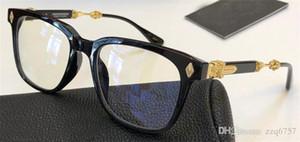 Yeni popüler retro erkekler optik gözlük MALICE punk stil tasarımcı retro kare çerçeve ile deri kutu HD lens en kaliteli