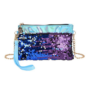 Designer-2019 donne Shinning paillettes Evening Clutch tracolla a catena Messenger Bag borsa del partito Wristlets