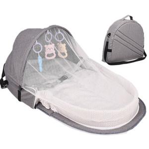 Cama de bebé el viaje de Protección Solar Mosquitera Con portátil plegable cuna del bebé transpirable bebé dormido cesta