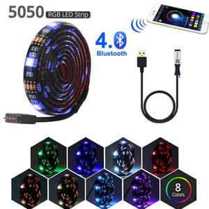 bluetooth wifi striscia principale rgb luce 5v nastro USB per TV LED illumina la lampada di retroilluminazione pc impermeabili Tiras ruban SMD 5050 neon flessibile