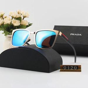 Gözlüğü Ayna Tasarımcı Güneş Gözlüğü Lüks Güneş Gözlüğü Tasarımcı Cam Erkek Adumbral Gözlük UV400 Marka P0120 için 6 Renk ile Yüksek Kalite kutu