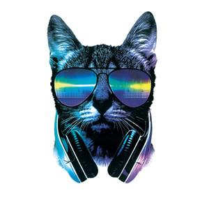 Soğuk Kedi Yamalar Isı Çıkartma On Giyim Tişört Elbiseler kavuruyor Güneş gözlüğü Kedi Yama On Giyim Transferler