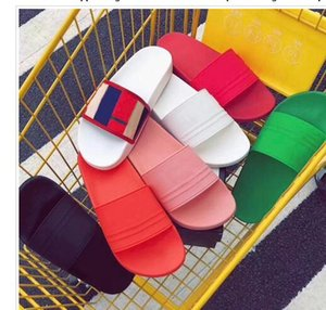 7COLORS NEW Designer slipper no Gear bottoms mens striped sandals causal Non-slip summer huaraches slippers flip flops slipper BEST QUALITY