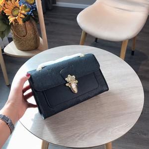 봉투 빅토리아 디자이너 명품 핸드백 지갑 체인 스트랩 어깨 크로스 바디 L 꽃 양각 지갑 체인 스트랩 여성 가방