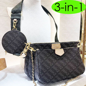 3-in-1 M44840 MULTI POCHETTE Designer épaule ACCESSOIRES Chain Cross Body Bag Mode féminine ronde Coin Cell Phone Purse Smartphone poche