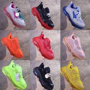 New Colour Desginer 17FW Triple S Platform Shoes Women Luxury Crystal Bottom Mens Designer Sneakers Casual Tripler Sports Trainer