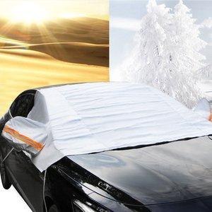 Универсальная автомобильная Половина Крышки Зонта Styling Фольга Водонепроницаемые сгущают автомобили Snow Shield Anti-UV снег Защита Чехлы для автомобилей