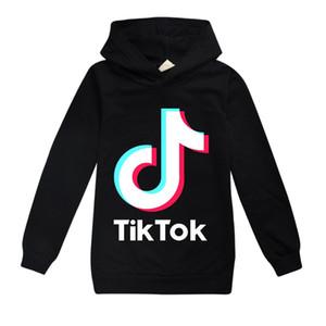 9 color TikTok niños de manga larga sudaderas muchacho / Teen Tops Chaqueta sudadera con capucha para niños capa del algodón Ropa