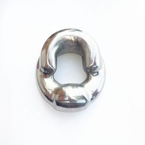 500g 스테인레스 스틸 수탉 반지 펜던트 금속 공 들것 scrotal 훈련 고환 페티쉬 놀이 속박 기어 섹스 토이 남자 XCXA334