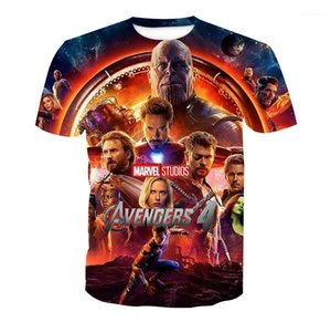 Hombres Mujeres Verano Camiseta de Manga Corta Marvel Película Camisetas Avengers 4 3d Imprimir camisetas
