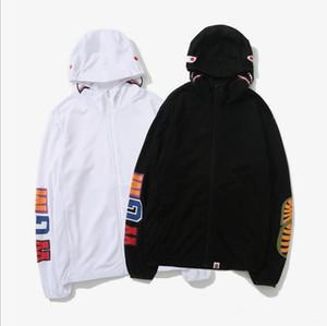 Nuevo patrón de diseño de moda sudadera con capucha mono verano protector solar chaqueta de punto transpirable tapa piel ropa hombres y mujeres kanye hip hop Lujo zip
