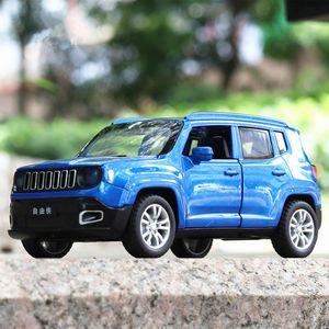 1:32 Escala Jeep Metal Alloy Diecast Toy Cars Pull Back Luz de Sonido Miniatura Modelo de coche juguetes para niños