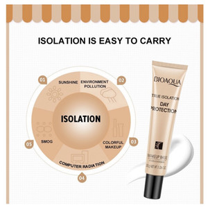 BIOAQUA Face Makeup Base 30g true Isolation day protection Cream Whitening Brighten Face BB Cream foundation 3 pcs free shipping epacket