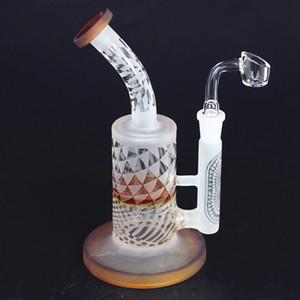 Nouveau design en verre sabler recycleur enivrant tuyau de 8,5 pouces d'eau en verre dab plate-forme mini-plate-forme pétrolière avec une grande pipe