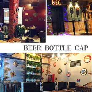35cm European American Classic Motorcycle Beer Bottle Cap Garage Factory Wall Decoration Beer Cover Bar Chess Room Decoration