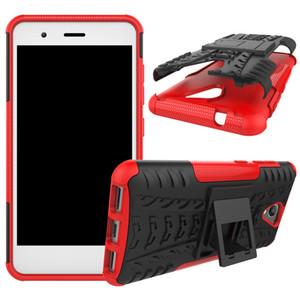 10pcs / lot supporto in silicone morbido TPU + supporto per custodia per telefono ZTE A520 / V8 / A510 V6 Plus V7 lite A2 lama L5 L5 più A510 Funda