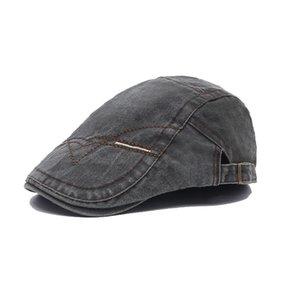 Vintage Golf Egzersiz Düz Bereliler Pamuk Denim Şapka Casual Visor Cap Erkekler Açık Güneş Kemik Brim Şapkalar Katı Şapka Ayarlanabilir xlia Caps
