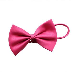 Pet Apparel 19 colors Pet tie Dog tie collar flower accessories decoration Supplies Pure color bowknot necktie