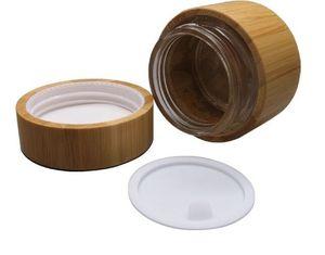 30 г 50 г Стеклянная банка с бамбуком. Пустые баночки для крема. Контейнеры для косметической упаковки. Горшок с крышкой.