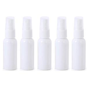 5PCS الأبيض رش زجاجة التطهير السائل من البلاستيك الشفاف وعاء زجاجات المحمولة 30ML الخالي المحمولة السفر عطور حاويات