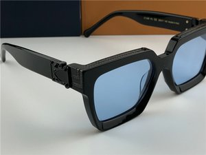 Männer Design Sonnenbrille Millionär 96.006 Quadrat schwarzen Rahmen blau Objektiv neue hochwertige Farbe im Sommer im Freien Avantgarde uv400 Linse