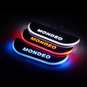 لفورد مونديو 5 MK5 2013-2019 الاكريليك نقل LED ترحيب دواسة السيارة جرجر لوحة دواسة عتبة الباب المسار الخفيفة
