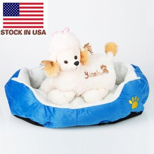Dog Beds Fashion dogs carrier Soft Warm Round Pet Cat Bed Comfortable Pet Nest Dog Cat Washable Kennel Easy To Clean Dog Bed
