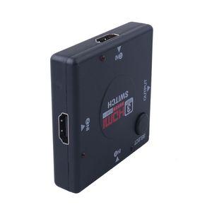 HDMI 미니 평방 HDMI 수동 세 컷 한 1080P HDMI 스위처으로 vedio 분배기 앰프에서 하나에 세 가지의 교환기