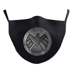 Batman Spiderman Captain America super-héros visage de luxe design adulte masquer masques Party cosplay réutilisable poussière coton coupe-vent BOUCHE Mask