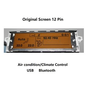Экран автомобиля поддержка USB Dual-zone Air AC Bluetooth дисплей желтый монитор 12 pin подходит 307 407 408 C4 C5 экран дисплея автомобиля