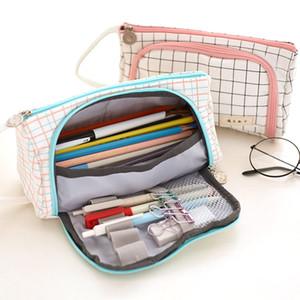 Multifonctionnel Trousse sac en tissu cosmétiques Papeterie Bureau sac Outils d'étude école pinceau de maquillage sac de rangement