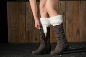 Hirigin 2017 Sexy Women Leg Warmers Boot Cuffs Women Crochet Knitted Boot Cuffs Toppers Leg Warmers Autumn Winter Fur New Socks