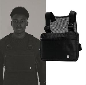 Harnais Poitrine Rig Sac Hip Hop Streetwear Tactique Poitrine Noire Rig Molle Sac De Taille Fonctionnelle Hommes Imperméable À L'eau Cross Shoulder Bags