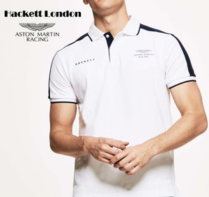 La nueva mancha Hackett comercio exterior coincidencia de color impresa polo de algodón en la solapa de la camiseta de manga corta explosión de los hombres de la marca