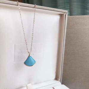 Blue pine stone necklaces are popular in Europe and America Designer hot style trendy summer necklace