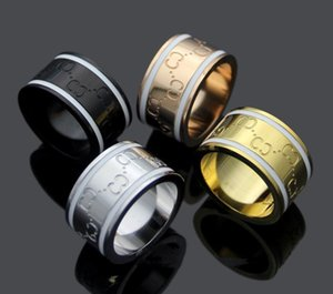 TOP SELL 316 titanium steel letter love rings bague Ringe moissanite for mens and women party couples lovers gift jewelry
