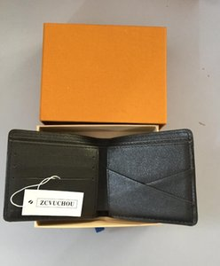 Mens Brand Wallet free shipping 2019 Men's Leather With Wallets For Men Purse Wallet Men Wallet with Orange Box Dust Bag