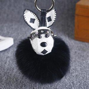 Fox Fur Rabbit Fur Ball Keychain Fashion Pom Pom Key Chain Bunny Toy Keyring 9cm Ball Toye Car Charm Bag Car Pendant Jewelry
