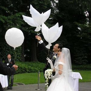 Free shipping 500pcs lot white bio dove pigeons bird helium balloons wedding party event decorations size 105*45cm