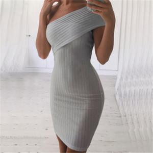 di High Street New Fashion Style fasciatura delle donne aderente monospalla asimmetrico del partito di sera Club breve mini abito