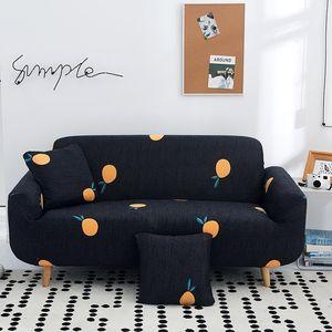 Bonenjoy Negro Sofá Cubiertas Cubiertas Frutas prined Couch para Sofás Sofá seccional cubierta elástica
