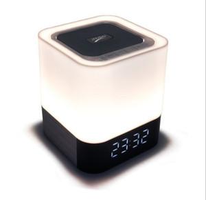 사향 DY28 플러스 무선 4.0 블루투스 LED 램프 스피커 변경 가벼운 터치 피드백 알람 시계 AUX 4000mAh