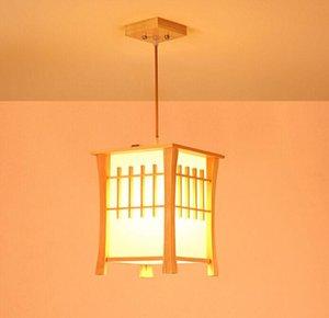 New Classic Pendentif en bois Balcon Lampes Style Japonais salle à manger Hall d'entrée Couloir Pendant Light Suspension Myy