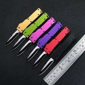 """5.1 """"클립 휴대용 키 칼 야외 EDC 포켓 나이프 무료 배송 CNC 알루미늄 손잡이 (440) 블레이드 미니 자동 나이프"""