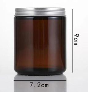 VAPE DHL 250мло 250 Amber Brown стекло Крема для лица контейнера баночка Refillable Круглых бутылок Косметического макияж Лосьон Контейнер для хранения баночка