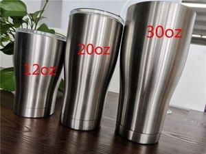 le moins cher !! 30oz Curving Gobelets Gobelets cintrées double Tumble en acier inoxydable Mur taille à vide Forme tasses d'eau isolation bière tasse à café