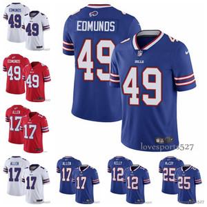 Мужская футболка Buffalo Bills jersey 17 Josh Allen Jersey 49 Tremaine Edmunds 12 Jim Kelly 25 LeSean McCoy football Jersey